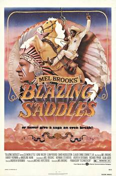 Title: BLAZING SADDLES , Date: 1974 , Size: 27 x 41 inches , Medium: Offset-Lithograph , Price: $675