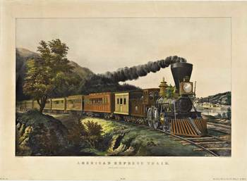 Title: AMERICAN EXPRESS TRAIN , Date: 1946 , Size: 32