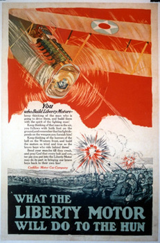 Title: What the Liberty Motor Will do to the Hun , Date: circa 1917 , Size: 25