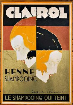 Title: CLAIROL HENNE SHAMPOOING , Date: c. 1935 , Size: 7 1/8