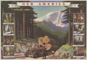 Title: LUMBER #1 - OUR AMERICA , Date: 1942 , Size: 32