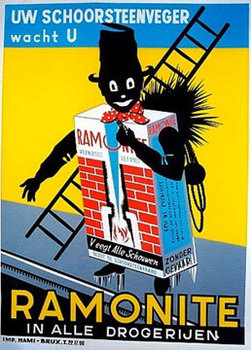 Title: Ramonite (chimney cleaner) , Date: c. 1930 , Size: 46.25