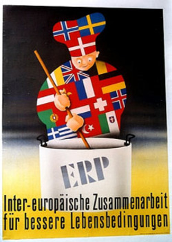 Title: ERP European Reunification Program , Date: post WWII , Size: 21