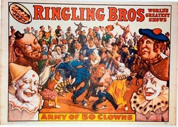 Title: Army of 50 Clowns , Date: 1960 , Size: 19