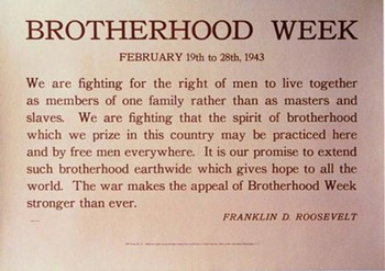 Title: Brotherhood Week , Date: 1943 , Size: 27