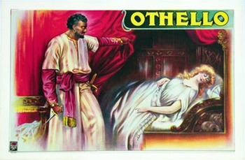 Title: Othello and Desdemona , Date: 1920 , Size: 30.5