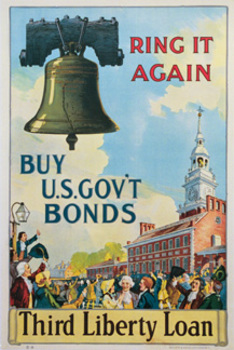 Title: Ring it Again- Third Liberty Loan , Date: 1918 , Size: 19.75