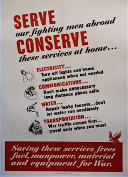 Title: Conserve These Services at Home , Date: 1943 , Size: 28.75