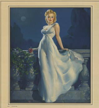 Title: Dream Girl Pin Up , Date: 1943 , Size: 14