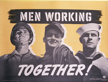 Title: Men Working Together , Date: 1942 , Size: 40