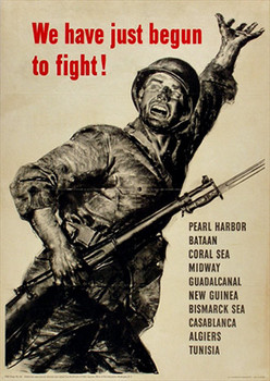Title: We have just begun to fight! , Date: 1943 , Size: 20