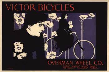 Title: Victor Bicycles , Date: 1899 , Size: 15 5/8