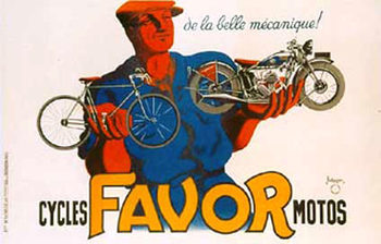 Title: Cycles Favor Motos (motorcycle) , Date: 1937 , Size: 62.75