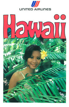 Title: Hawaii United Airlines , Date: 1978 , Size: 25.25