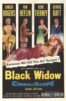 Title: Black Widow , Date: 1954 , Size: 27 x 41.5 , Medium: Offset-Lithograph , Price: $725