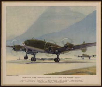 Title: Lockheed C 69 Constellations , Date: circa 1940s , Size: 13 1/4