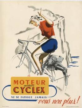 Title: Moteur Cyclex , Date: c. 1945 , Size: 23.75 x 30.75 , Medium: Lithograph , Price: $650