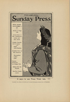 Title: Sunday Press- Want Ads , Date: 1897 , Size: 8 5/8