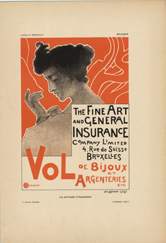 Title: The Fine Art and General Insurance , Date: 1897 , Size: 8 5/8