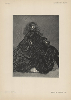 Title: L'Image- Second Empire , Date: 1897 , Size: 12 x 9.25 , Medium: Stone-Lithograph , Price: $69