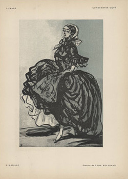 Title: L'image- A Mabille , Date: 1897 , Size: 12 x 9.25 , Medium: Stone-Lithograph , Price: $69