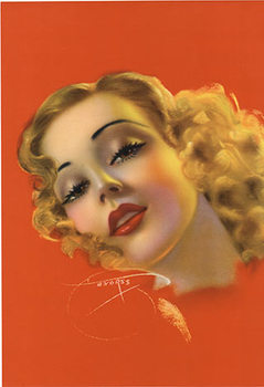 Title: Blond Bombshell Pinup , Size: 12 x 17 , Medium: Lithograph , Price: $275