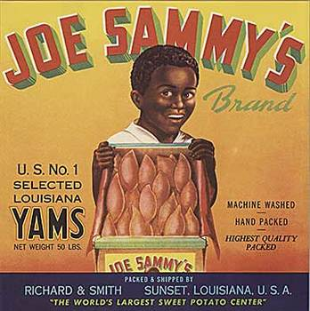 Title: Joe Sammy's Yams , Date: c. 1920's , Size: 9.25 x 9.25 , Medium: Offset-Lithograph , Price: $20