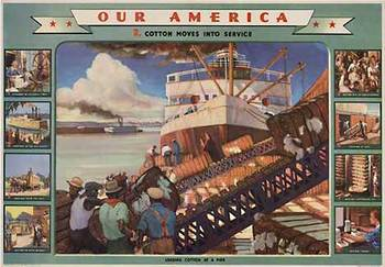 Title: Our America Cotton # 2 , Date: 1943 , Size: 31.75