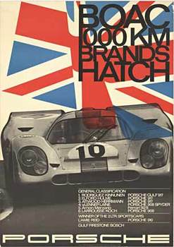 Title: BOAC 1000 km Brands Hatch 1970 , Date: 1970 , Size: 33 x 46.75 , Medium: Offset-Lithograph , Price: $950