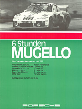 Title: 6 Stenden Mugello Porsche , Date: 1977 , Size: 30 x 40 , Medium: Offset-Lithograph , Price: $325