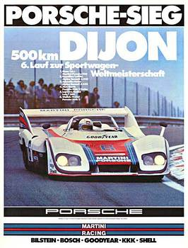 Title: 500 Km Dijon Weltmeisterschaft , Date: 1976 , Size: 30 x 40 , Medium: Offset-Lithograph , Price: $400
