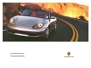 Title: For a perfect start to the Season. The Spring check for your Porsche , Date: 1998 , Size: 40 x 30 , Medium: Offset-Lithograph , Price: $98