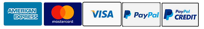 we accept all major credit cards and paypal and paypal credit