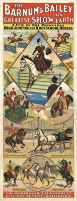 antique circus poster