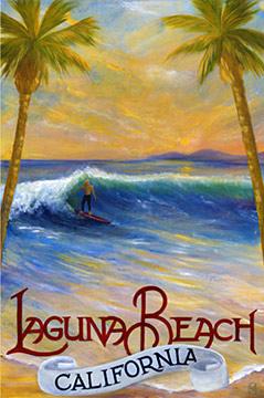 Original Laguna Beach travel poster.
