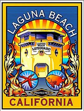 LAGUNA BEACH PROTECTED Beach poster