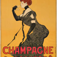 Antique Original French Champagne Poster